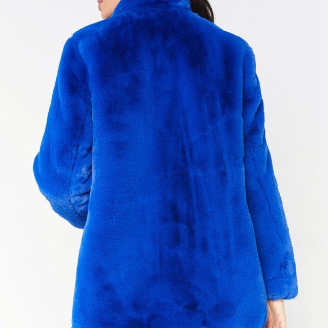 FURGAZI Fashion Faux Fur Coat