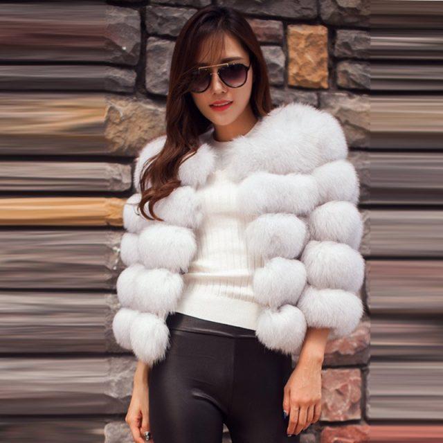 FURGAZI Winter Faux Fur Coat