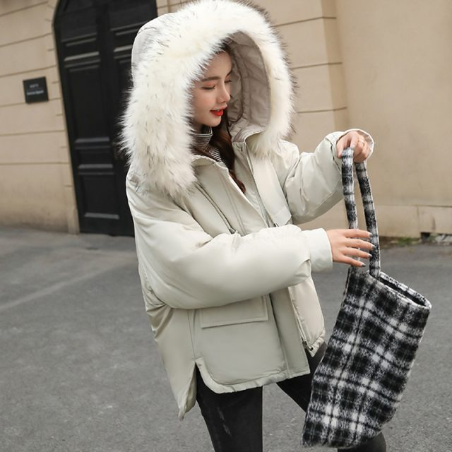 FURGAZI Winter Faux Fur Parka