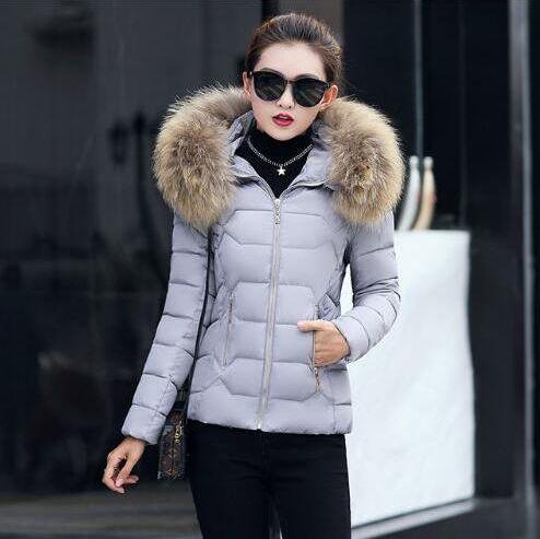 FURGAZI Detachable Hood Faux Fur Parka