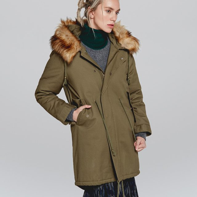 FURGAZI Warm Faux Fur Parka