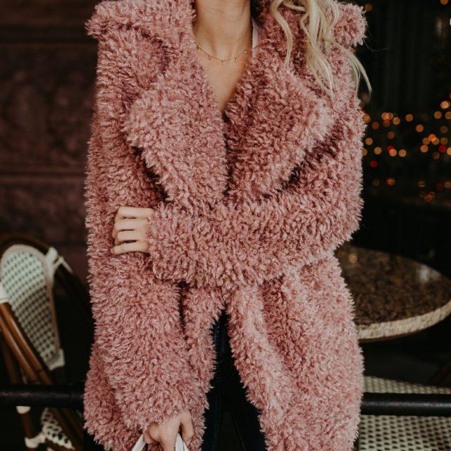 FURGAZI Fluffy Faux Fur Cardigan