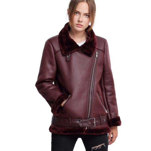 FURGAZI Aviator Faux Fur Jacket
