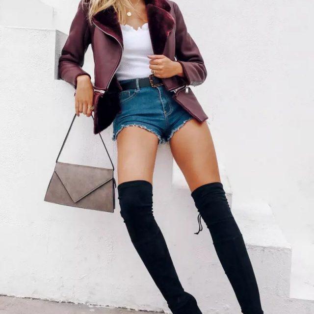 FURGAZI Detachable End Faux Fur Jacket